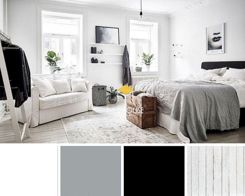 Cách sử dụng màu sắc trong phòng ngủ màu trắng