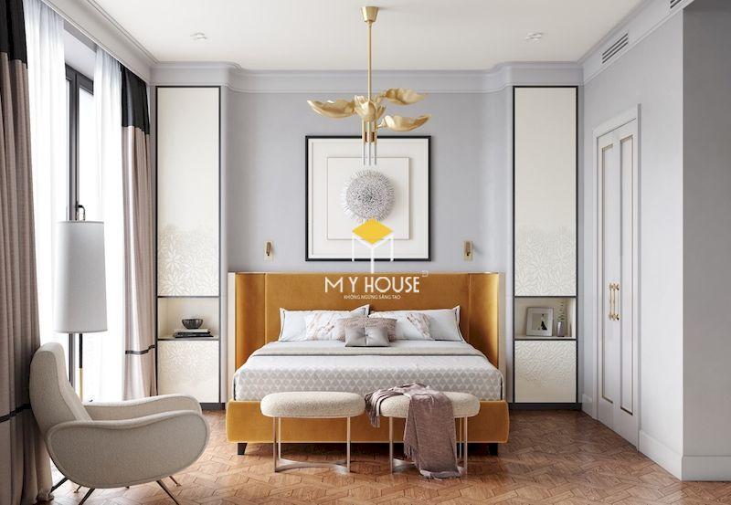 Nội thất phòng ngủ màu trắng phong cách tân cổ điển
