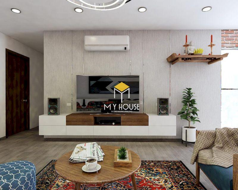 Phòng sinh hoạt chung kết hợp phòng khách