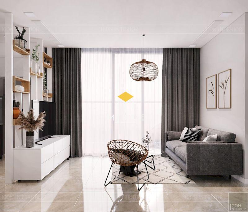 Thiết kế phòng sinh hoạt chung đẹp, đơn giản cho nhà phố