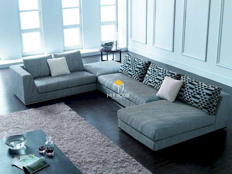 Chọn sofa nỉ chữ L theo kích thước