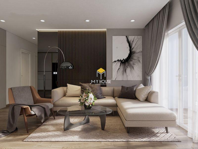 Trang trí phòng khách sang trọng với sofa chữ L