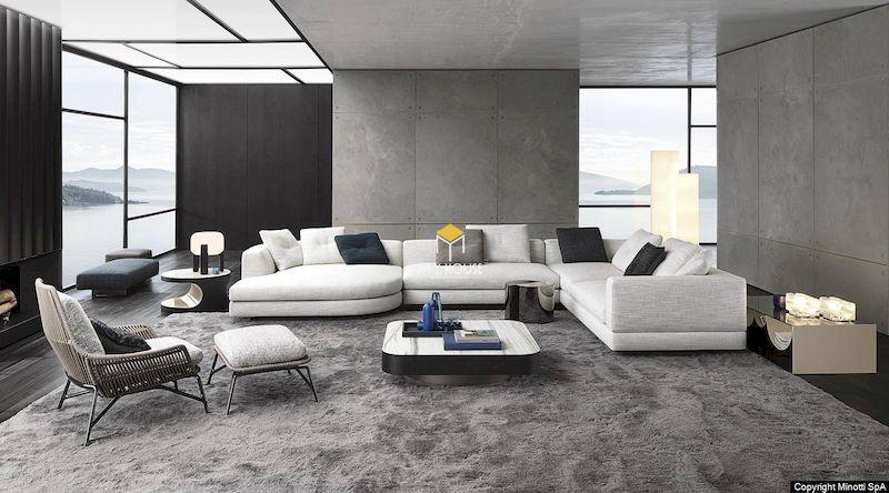 Sofa nỉ chữ L 3