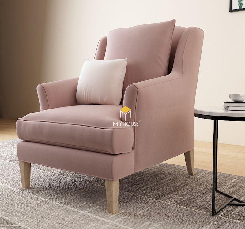 sofa đơn nỉ hồng