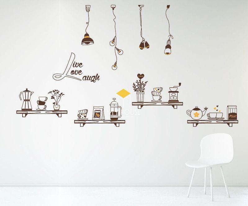 Trang trí quán trà sữa bằng tranh tường vẽ tay