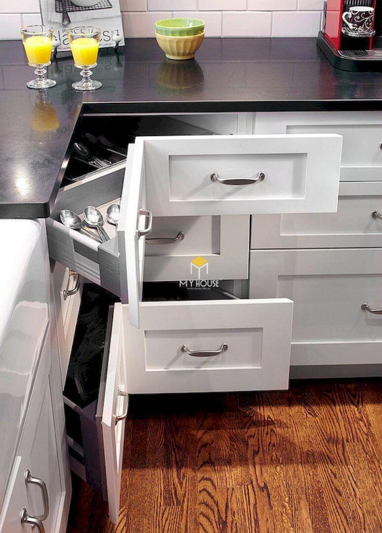 Thiết kế tủ bếp dưới đẹp, thông minh, tận dụng diện tích