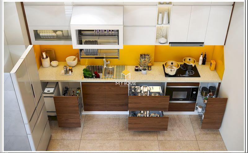Phân chia các chức năng tủ bếp dưới đẹp