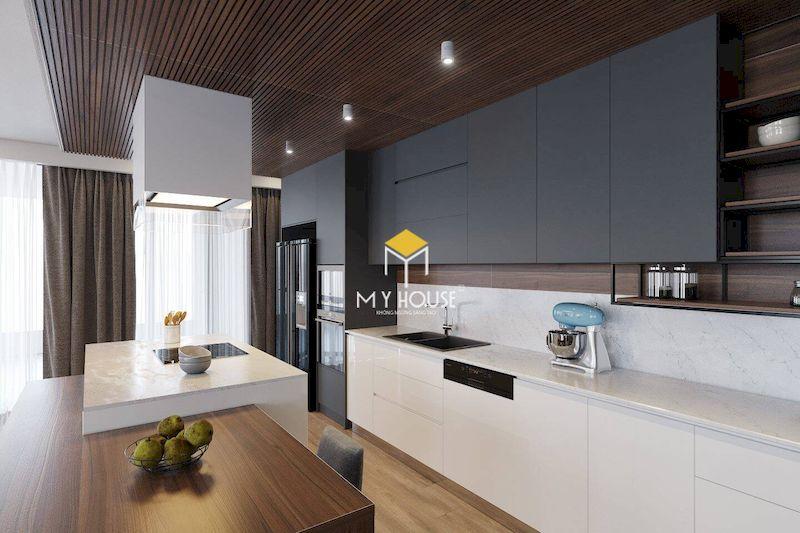 Xu hướng sử dụng tủ bếp gỗ công nghiệp cho căn hộ