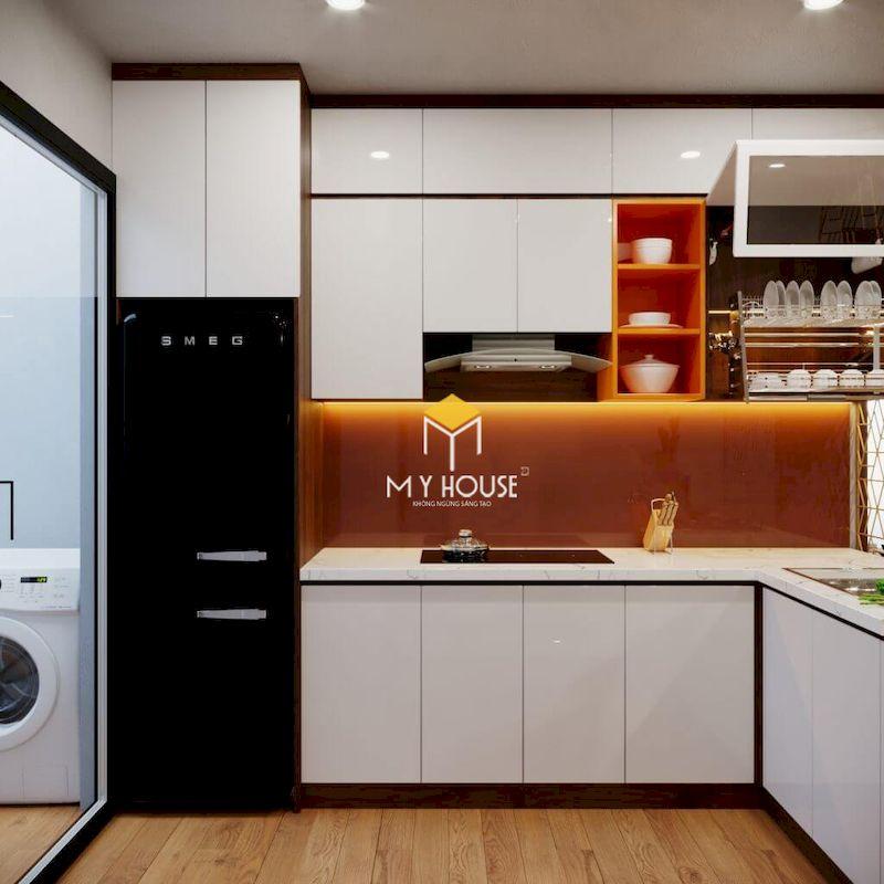 Thiết kế tủ bếp MDF phủ acrylic