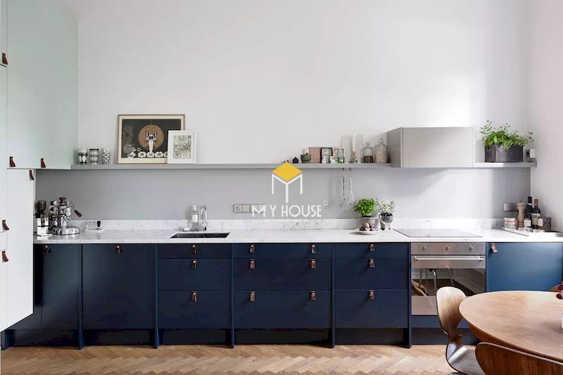 Tủ bếp màu xanh đen