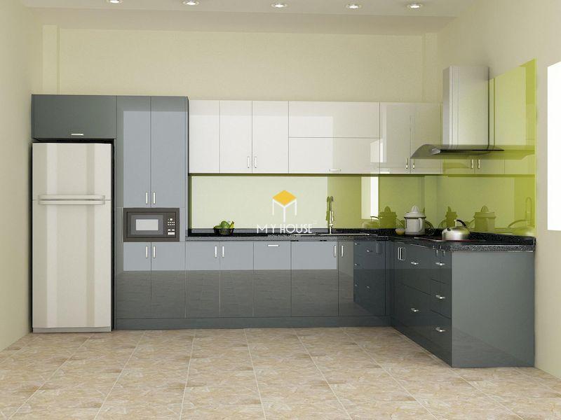 Thiết kế nội thất phòng bếp hiện đại cho nhà phố, chung cư