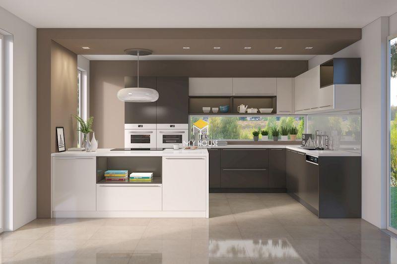 Tủ bếp MDF phủ Acrylic 3