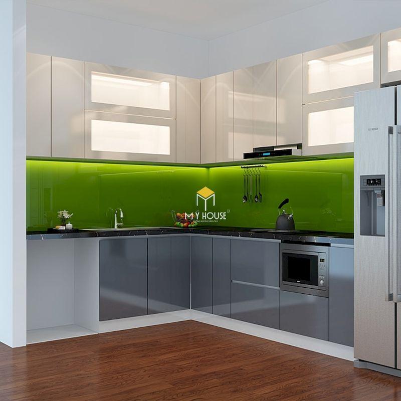 Thiết kế phòng bếp với tủ bếp acrylic hiện đại