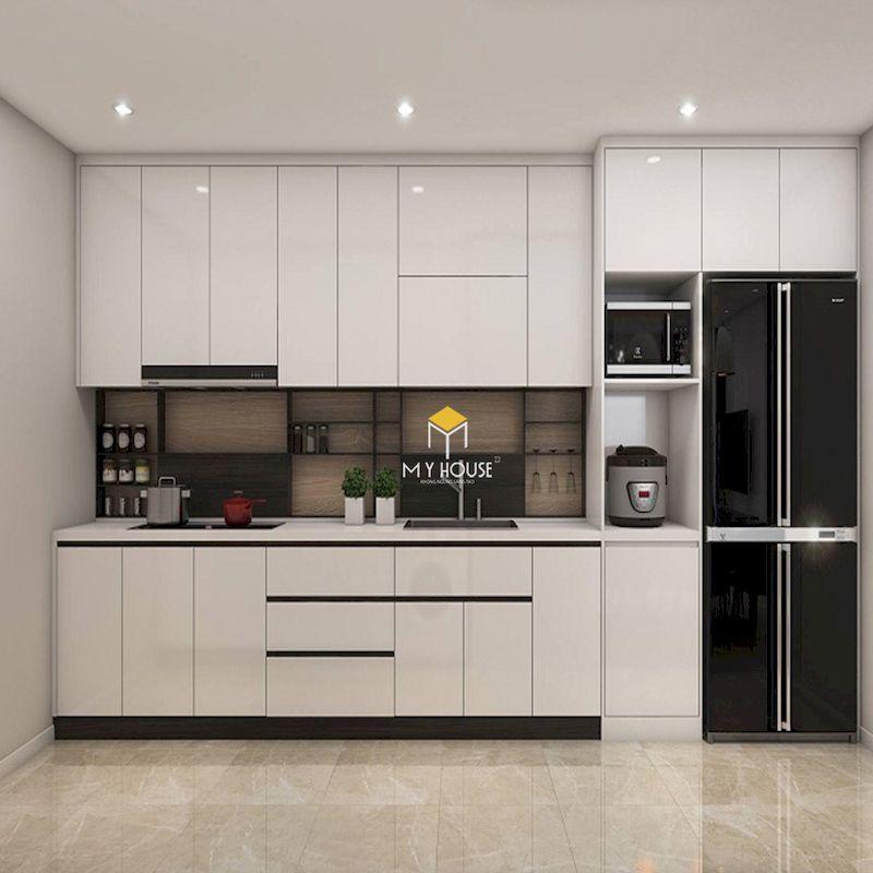 Vì sao nên lựa chọn tủ bếp MDF phủ acrylic cho nội thất phòng bếp chung cư, nhà phố