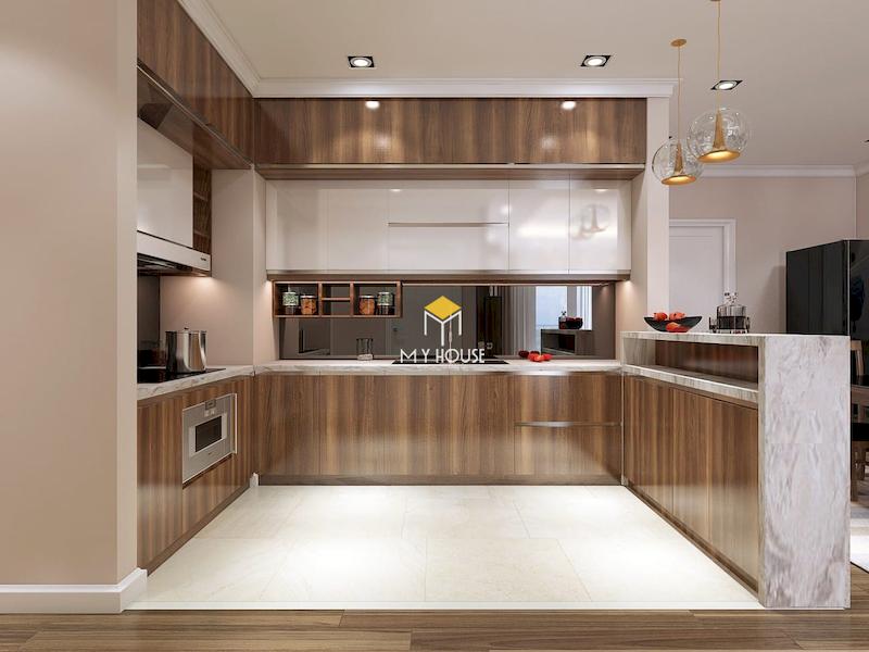 Đặc điểm của tủ bếp picomat cánh phủ crylic