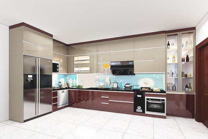 Tủ bếp Picomat cánh phủ Acrylic 3