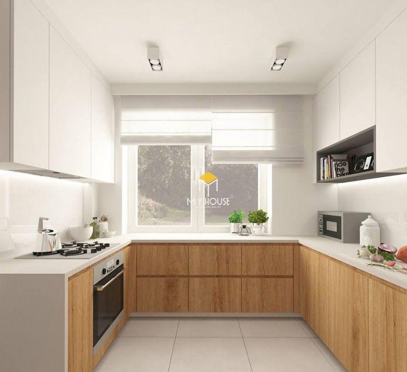 Tủ bếp picomat đẹp chữ U