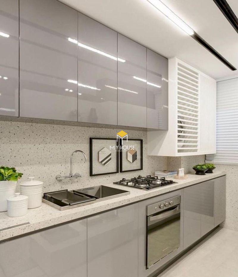 Tủ bếp picomat cánh phủ acrylic đẹp chữ I
