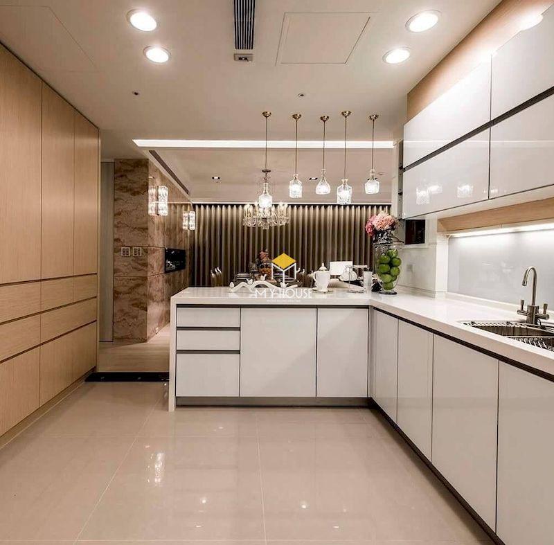 Tủ bếp picomat cánh phủ acrylic giá rẻ