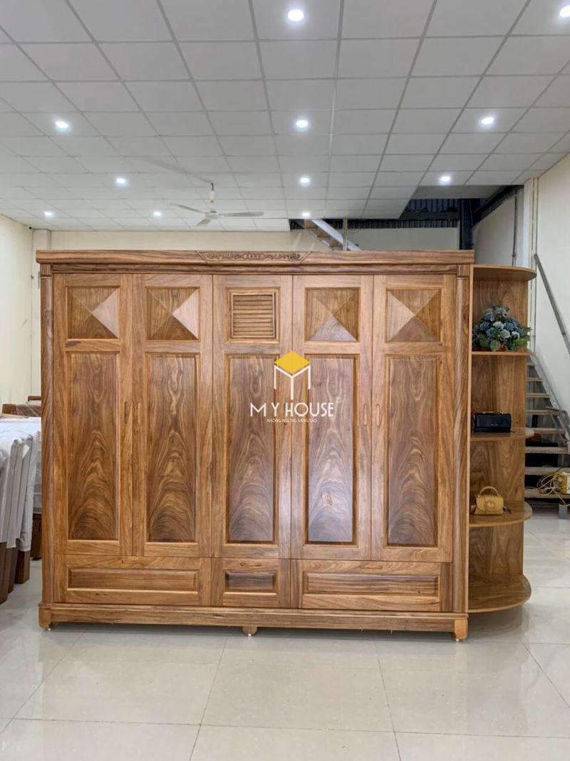 Thiết kế tủ gỗ tự nhiên cho phòng ngủ master