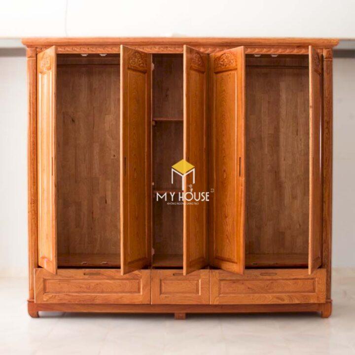 Tủ quần áo gỗ tự nhiên 3