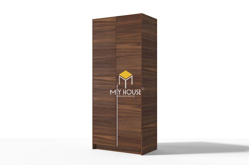 Tủ gỗ tự nhiên 2 cánh hiên đại