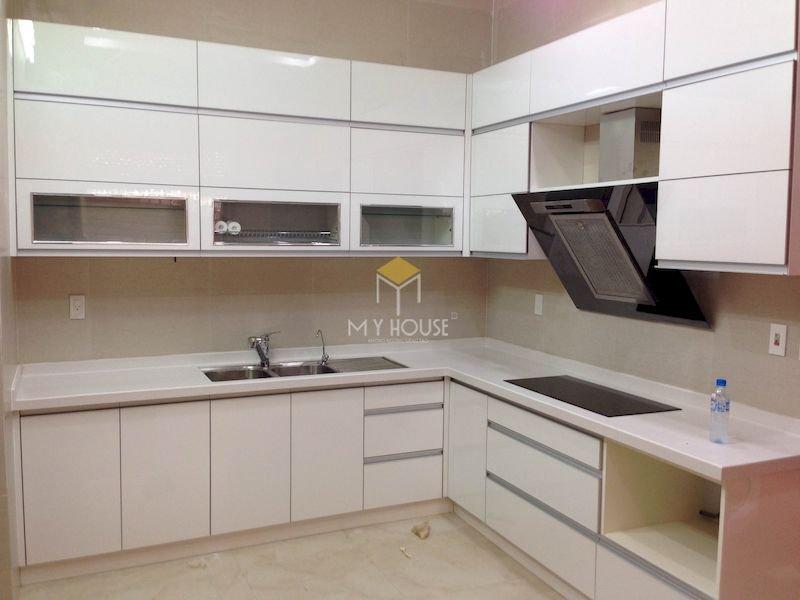 Tủ bếp acrylic chữ L - Mẫu 5