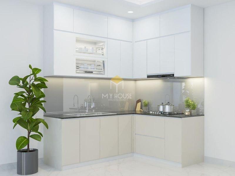 Tủ bếp acrylic chữ L - Mẫu 16