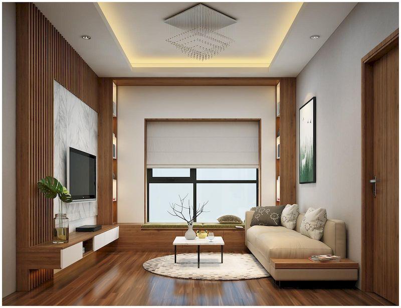 Combo nội thất phòng khách chung cư gỗ tự nhiên
