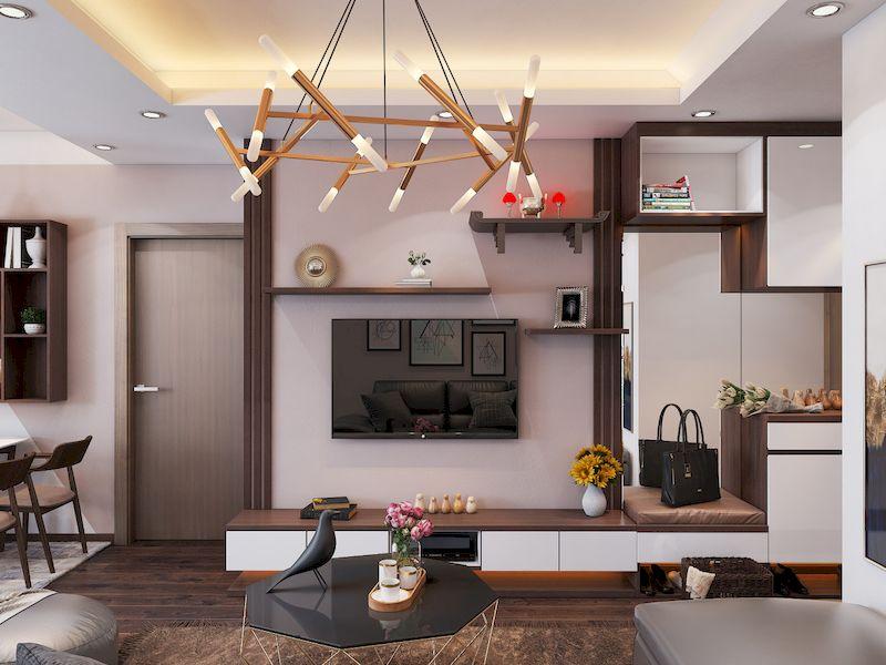 Combo nội thất phòng khách chung cư gỗ công nghiệp