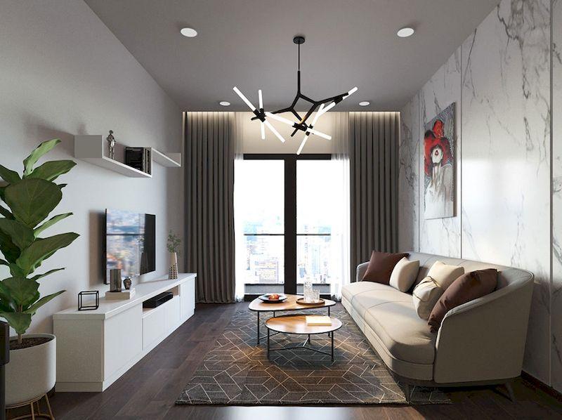 ý tưởng trang trí phòng khách chung cư nhỏ đơn giản mà đẹp