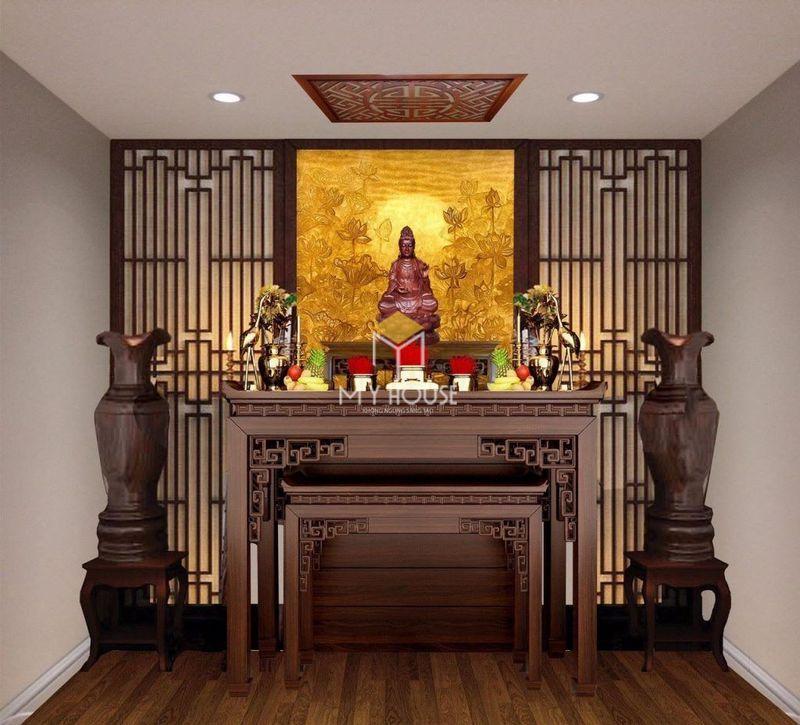 Diện tích phòng thờ nhà ống
