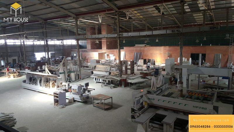 Một góc nhà máy sản xuất nội thất My House quy mô gần 6000m2