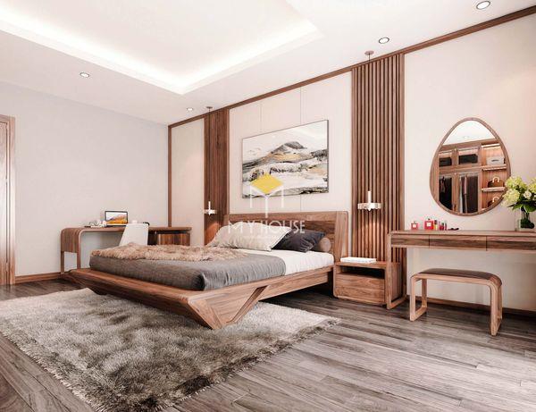 Nội thất phòng ngủ phong cách châu Âu gỗ óc chó - 12