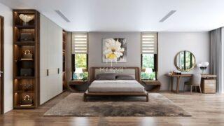 Phòng ngủ gỗ óc chó +53 Mẫu thiết kế nội thất cao cấp 2021 9
