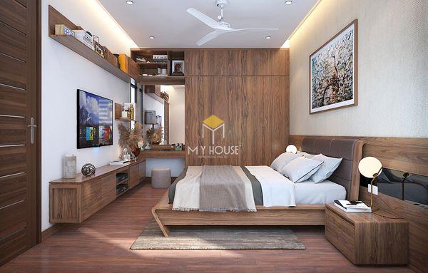 Mẫu nội thất phòng ngủ gỗ óc chó