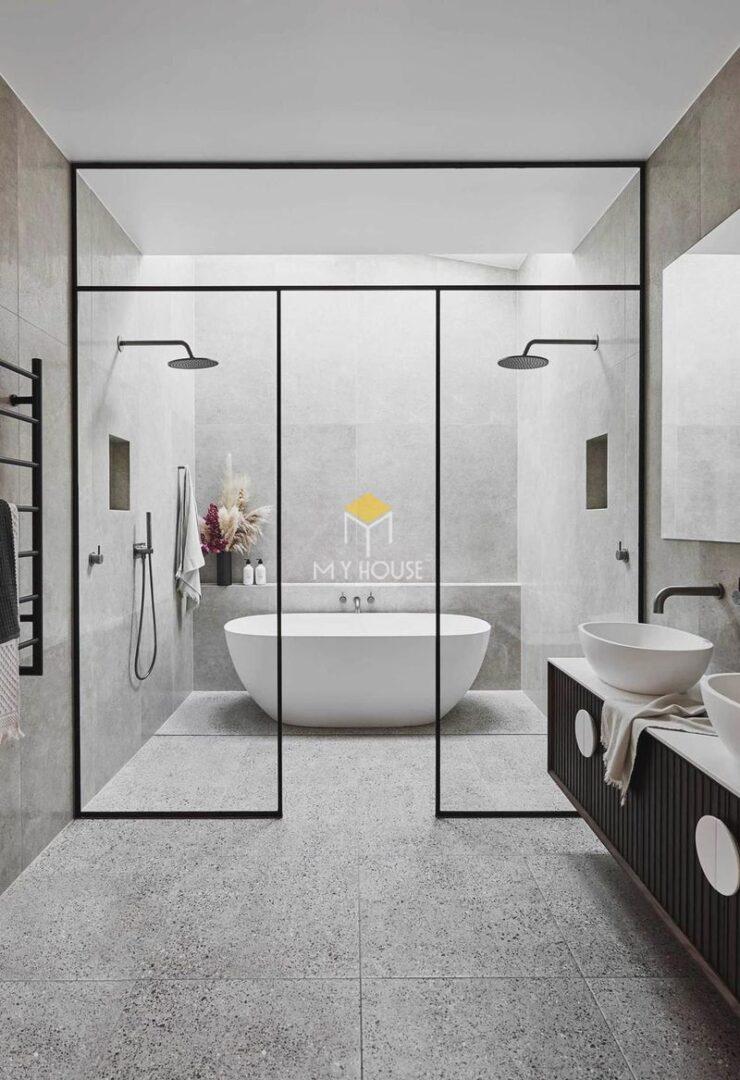 Thiết kế nhà vệ sinh và nhà tắm riêng - Phòng tắm rộng từ 3m2