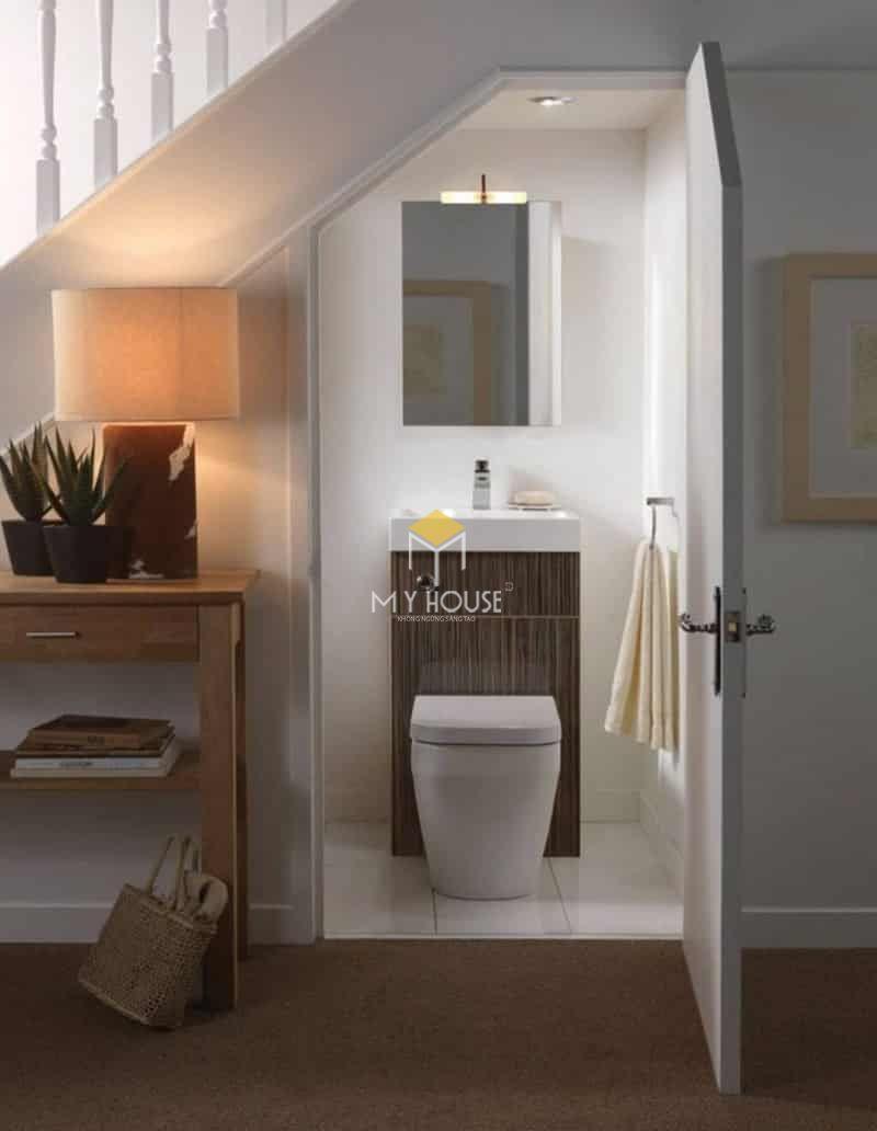 Thiết kế nhà vệ sinh và nhà tắm riêng - nhà vệ sinh thường đặt ở tầng 1