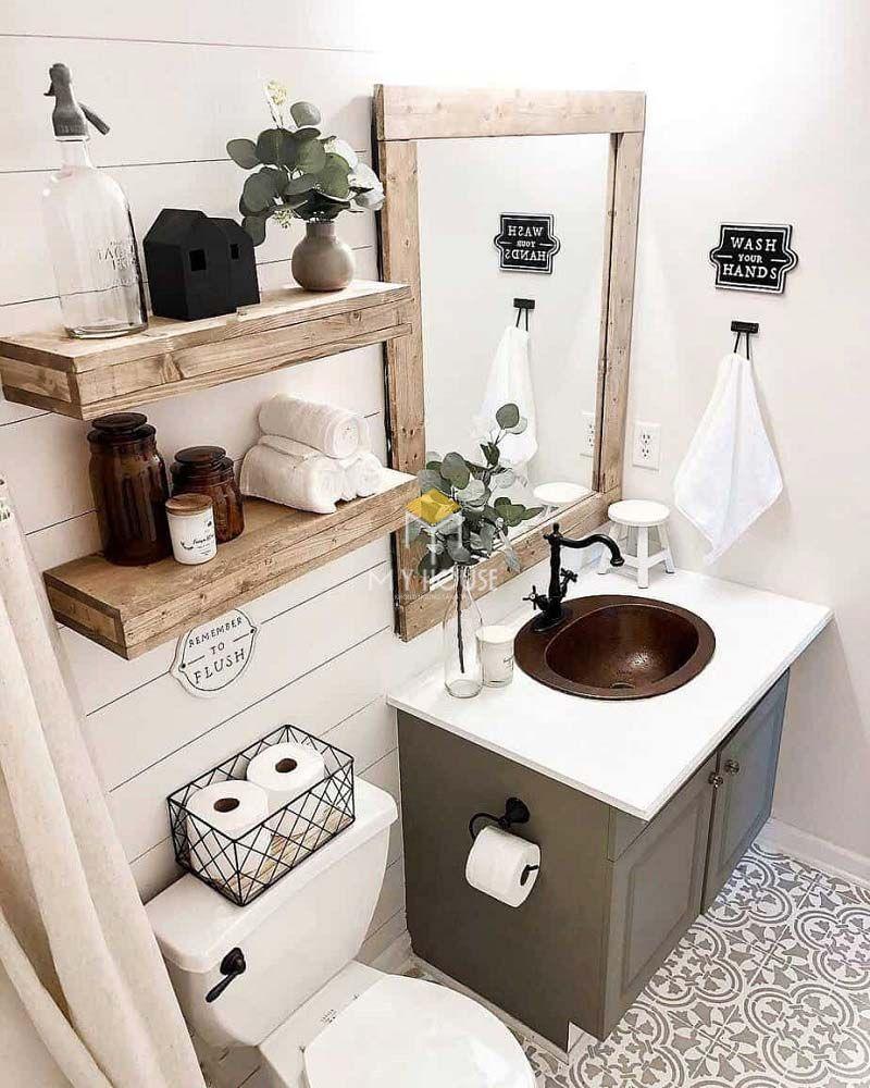 Thiết kế nhà vệ sinh và nhà tắm riêng - Nhà vệ sinh đầy đủ thiết bị sạch sẽ, chất lượng cao