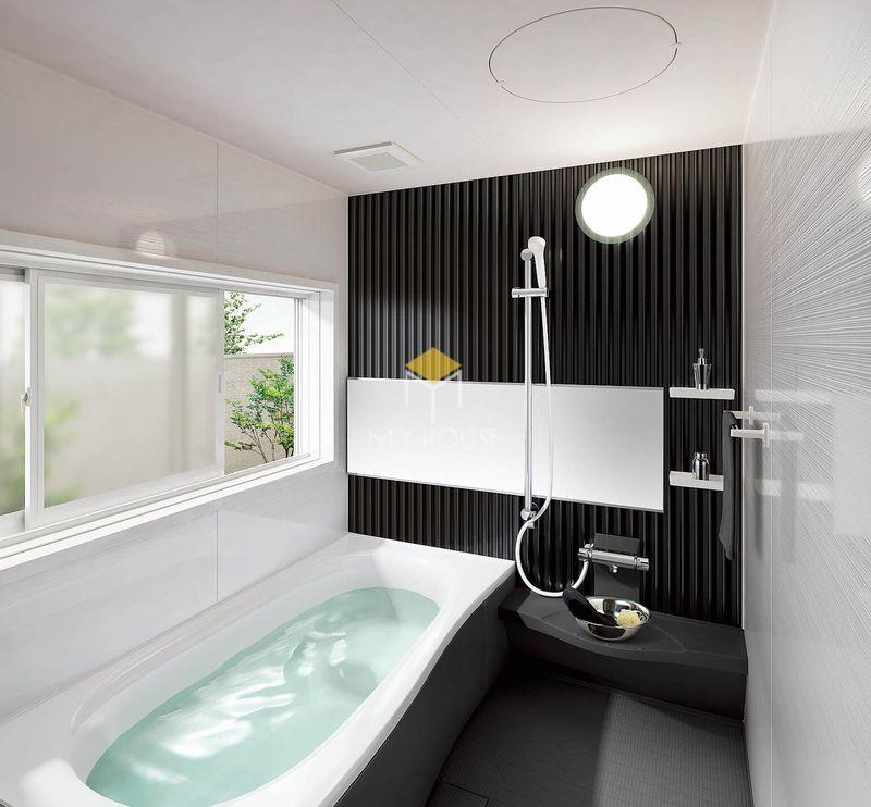 Thiết kế nhà vệ sinh và nhà tắm riêng - Phòng tắm với bồn tắm cao cấp