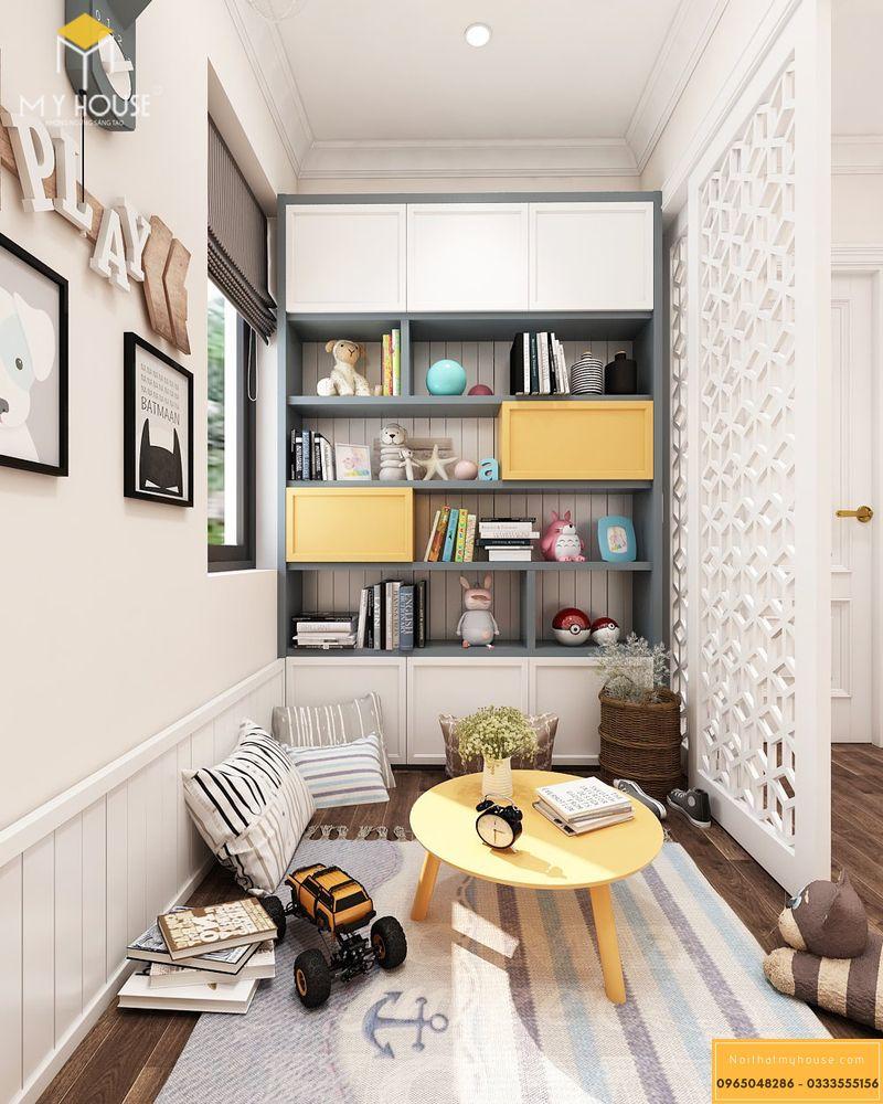 Thiết kế nội thất biệt thự Louis City Hoàng Mai - Phòng giải trí