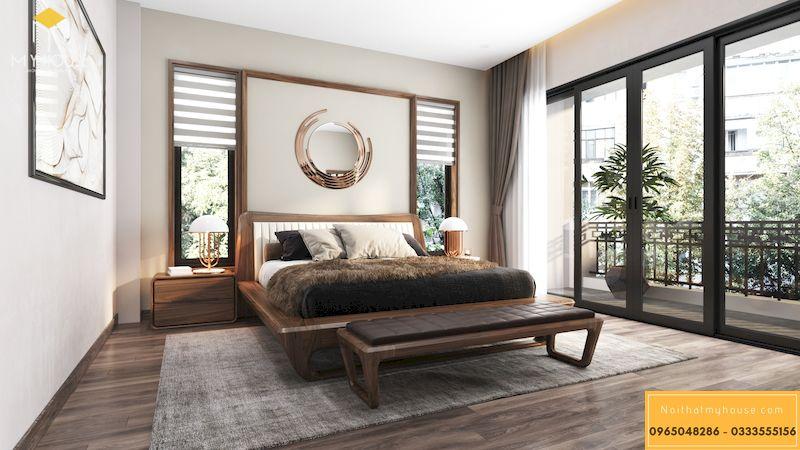 Thiết kế nội thất biệt thự liền kề Grandeur Palace - Phòng ngủ master