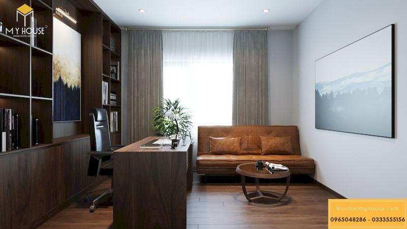 Thiết kế nội thất chung cư Grandeur Palace, Giảng Võ - bàn làm việc nguyên khối