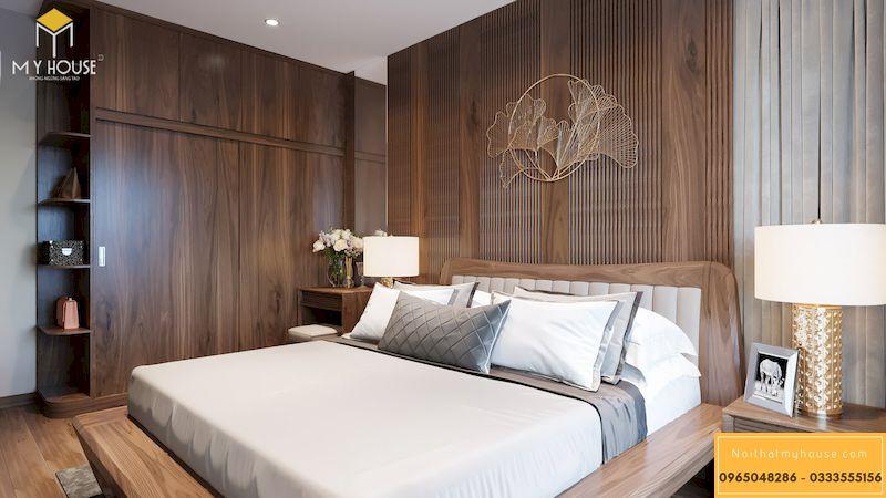 Thiết kế nội thất chung cư Grandeur Palace - phòng ngủ master