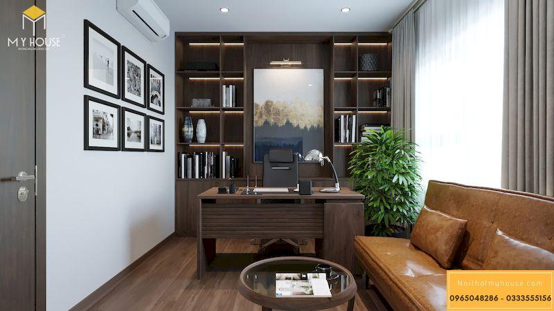 Thiết kế nội thất chung cư Grandeur Palace - phòng làm việc