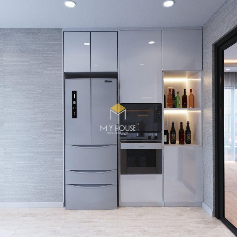 Thiết kế nội thất chung cư K35 Tân Mai 3 - Tủ bếp chung cư đẹp