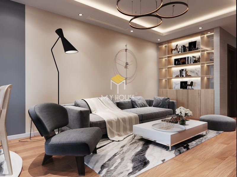 Thiết kế nội thất chung cư K35 Tân Mai 3 - điểm nhấn là cách sử dụng màu sắc và chất liệu hiện đại