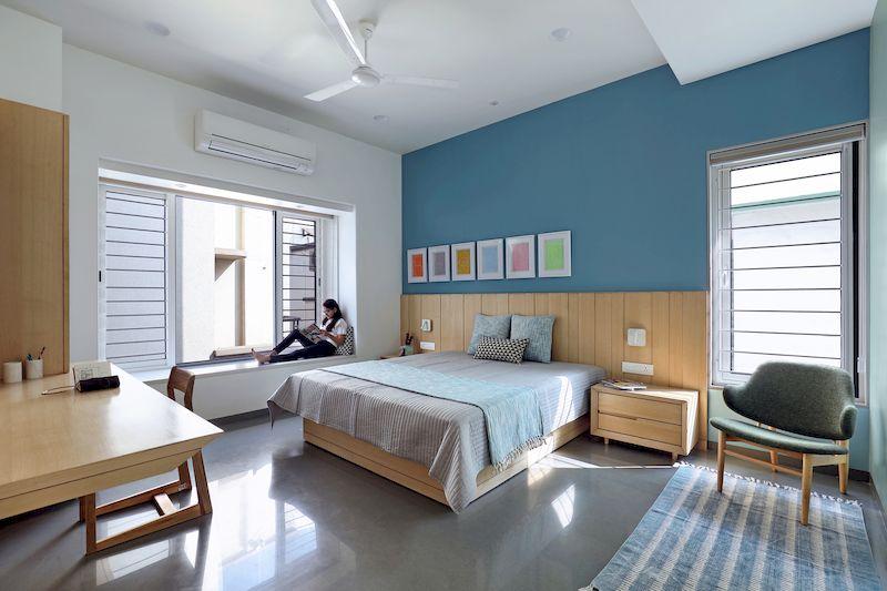 Thiết kế nội thất phân khu Hải Âu tại Vinhome Ocean Park - Phòng ngủ trẻ trung