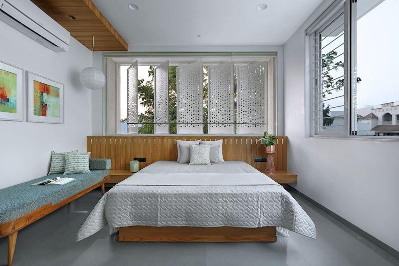 Thiết kế nội thất phân khu Hải Âu tại Vinhome Ocean Park - Phòng ngủ thiết kế mở