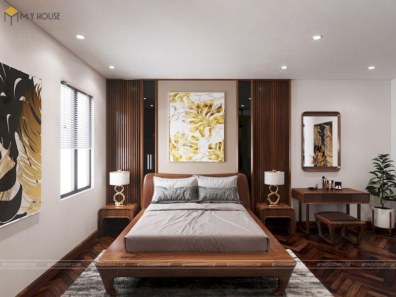 Thiết kế nội thất phân khu Hải Âu tại Vinhome Ocean Park - Trang trí phòng ngủ